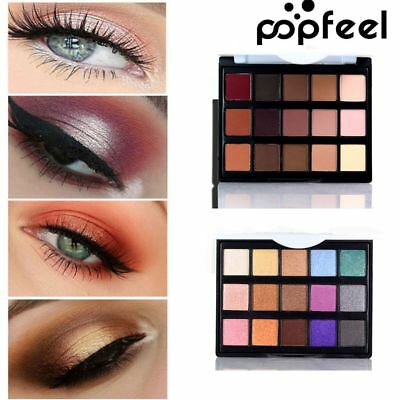 POPFEEL Matte Make Up Eye Shadow Palette Pigment Shimmer Glitter Eye Cosmetics