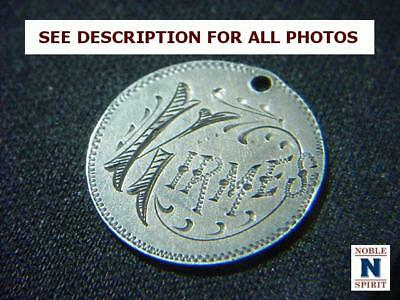 """NobleSpirit NO RESERVE {CT1} Exciting Seated Dime 1856 """"Kirmes"""" Love Token"""