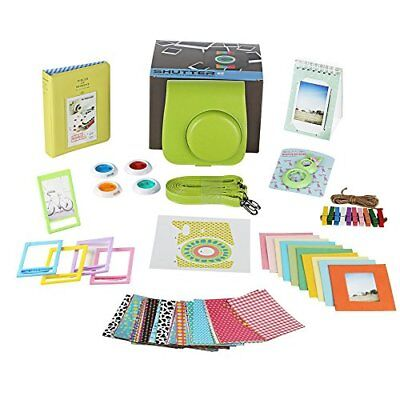 Fujifilm Instax Mini 9 LIME Instant Camera Accessories Bundle 11 Piece Gift B...