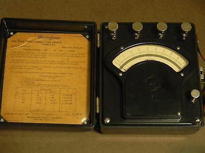 Westinghouse Ammeter 0 to 20 Amps (AC) portable