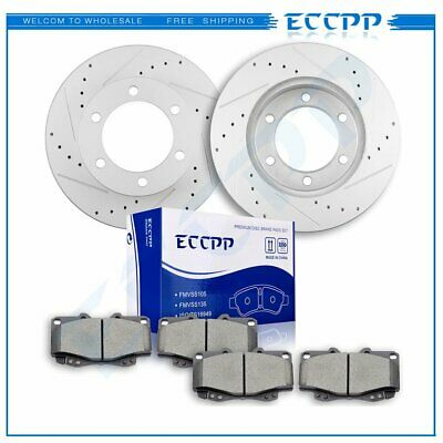 For 1995-2004 Toyota Tacoma Front PBR AXXIS Drill//Slot Brake Rotors+Ceramic Pads