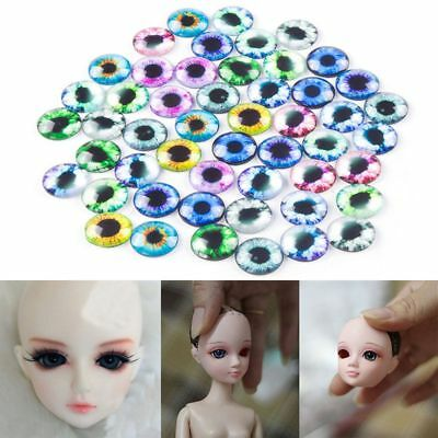 20Pcs 10MM/16MM/20MM Accessories DIY Crafts Eyeballs Time Gem Glass Dolls Eyes