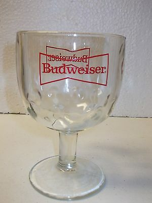 Budweiser  Beer Goblet with Bowtie Logo Bar Glass 16oz