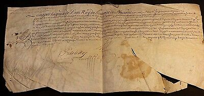 KING LOUIS XIV AUTOGRAPH on PARCHMENT- 1692
