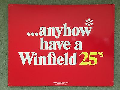 Vintage Winfield 25's & Holiday 50's Cigarette Sign. 1980's - Good Condition