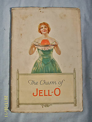 Vtg 1926 Recipe Booklet The Charm Of Jell-O Cookbook Advertising