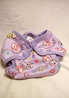 Rumparooz Cloth Diaper Cover One Size Purple Eco Owl Snaps