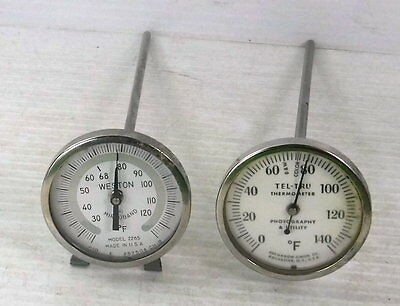 Weston Mirroband 2265 and Tel-Tru Dial Thermometers for Dark Room Photography