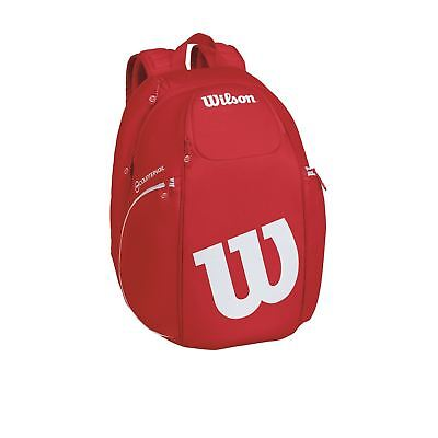 Wilson Pro Staff red/white backpack + Free 3pack overgrip