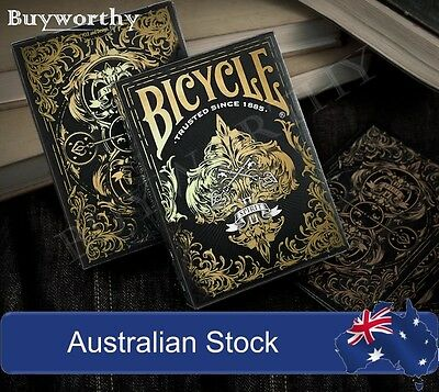 Spirit II Playing Cards Black Edition Gold Embossed Tuck Case Deck made in USA