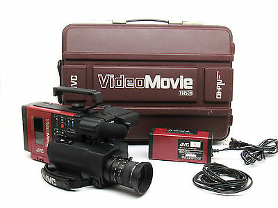 1984 JVC GR-C1U Video Movie Camera BACK TO THE FUTURE VHSC Red AS-IS PROP