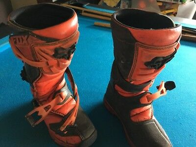 Kids Fox Motocross Boots Comp 5 Size Youth 3
