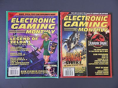 Electronic Gaming Monthly_Video Game Magazines_2 Issues_USED_Good Condition_RARE