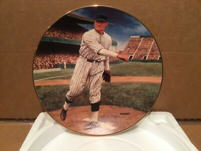 """Walter Johnson: The Shutout"" Plate - Bradford Exch. Ltd. Ed. Plate #11318A COA"