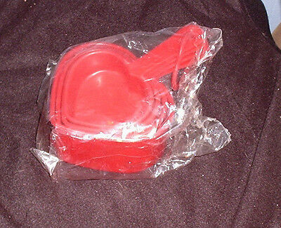 Vintage Promise Margarine Set Heart Shaped Measuring Cups Advertising sealed