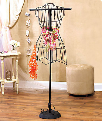 Metal Dress Form Vintage Mannequin Wire Women's Clothing Fashion Display Stand