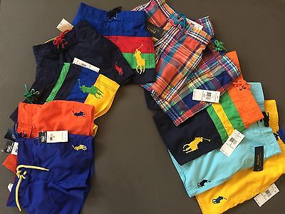 Ralph Lauren Polo Big Pony Swim Shorts kids Sizes 2T 3T 4T 5 6 Genuine NWT