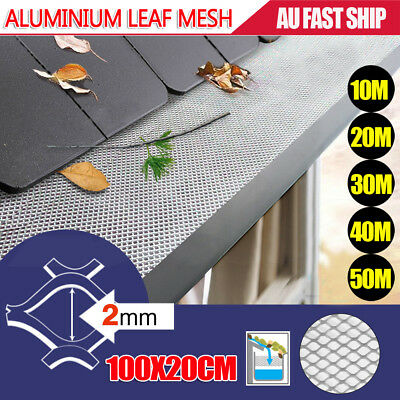 10M 20M 30M 40M 50M Gutter Guard Aluminium Deluxe Leaf Mesh- Keeps The Leafs Out
