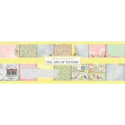 "ScrapBerry's The Art Of Nature Paper Pack 12"" 8/Pkg 6 davon doppels.30,5x30,5 cm"