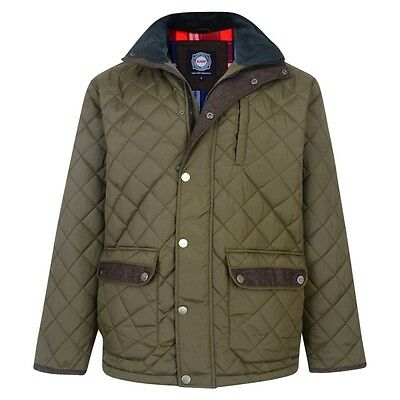 New Mens BRANDED Olive Green Quilted Jakcet BIG & Tall Plus SIZES 3XL-6XL