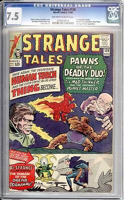 Strange Tales # 126  1st appearance of Clea !  CGC 7.5  scarce book!
