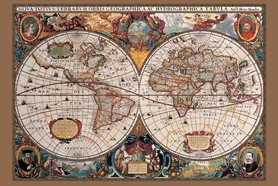 World Map - Antique (Laminated) POSTER 61x91cm NEW