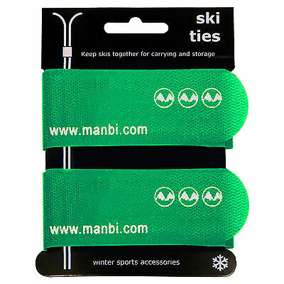 Pair of JUMBO Sized Velcro Ski Ties keep your skis strap together Trouser clip
