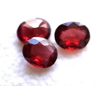 1,86 ct beaux Spinelles Rouges de Tanzanie - lot de 3