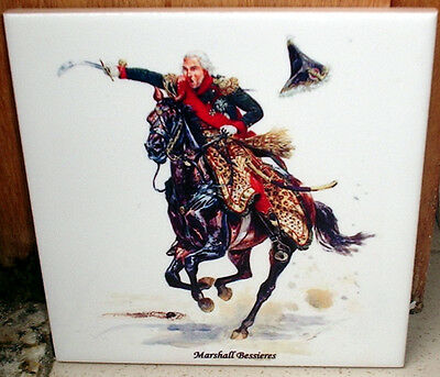 Napoleonic Wars ~Marshall general Béssieres on horse~ CERAMIC TILE