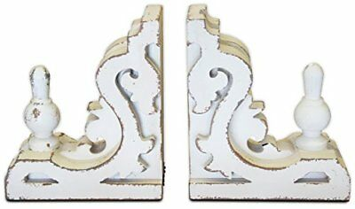 White Bookends or Sconces Large  Corbel Shelf Brackets  | by Urban Legacy