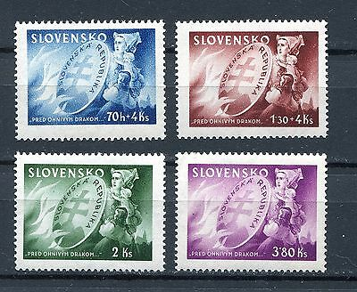 Slovakia Ww2 German Puppet State 1944 Scott 108-109 B25-B26 Perfect Mnh