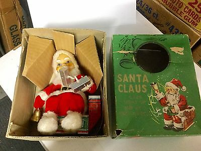 Santa Claus rare toy doll in box 1950s or 60s