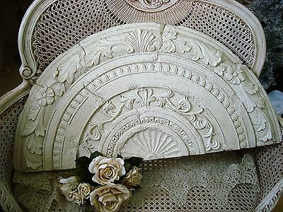 Huge Shabby Architectural Header Pediment For Over A Doorway Or Mirror