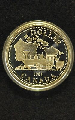 1981 Canada SILVER Commemorative Dollar, Canadian Train / Railroad Coin
