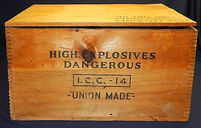 Vg High Explosives Dangerous Crate I.C.C. 14 National Powder Co Union Made W Lid