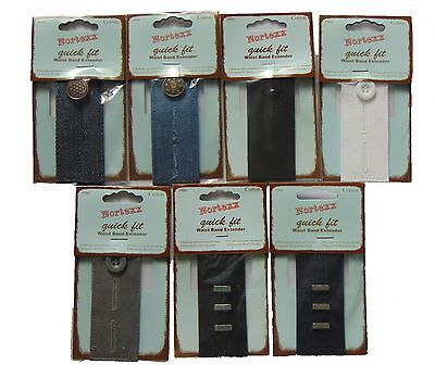"""Nortexx Quick Fit Waistband Extender Trousers Skirts Jeans Up To 2"""" Extra"""