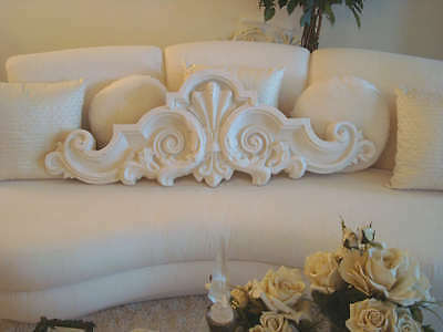Shabby Vintage French Scrolly Header Pediment For Over A Doorway Or Mirror