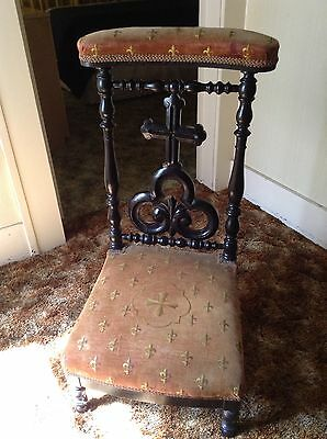 ANTIQUE FRENCH 19th century PRIE DIEU KNEELER Vintage