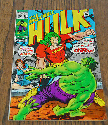 Incredible Hulk #141 First Appearance 1st Doc Samson High Grade Comic Book