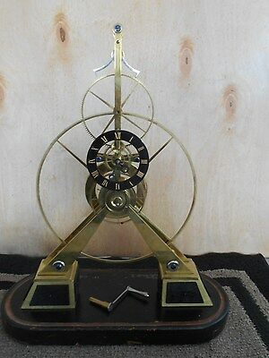 Rare Extra Large Great Wheel Skeleton Clock