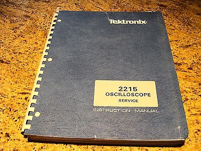 Tektronix 2215 Oscilloscope Service Manual
