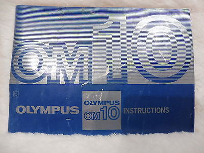 Olympus OM10 Instructions (Instruction Booklet) MANUAL GUIDE BOOK