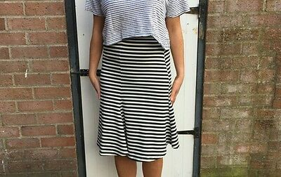 Fish Tail, Stripped, Black And White Pencil Skirt. Urban Outfitters Size S