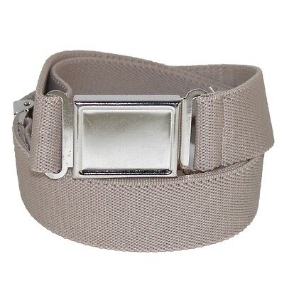 Kids' Elastic Adjustable Belt with Magnetic Buckle 1 Inch Khaki Tan Color