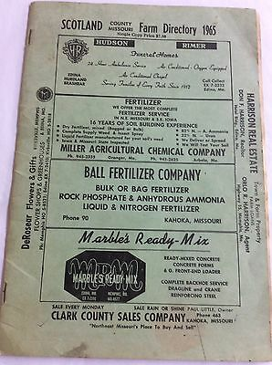Scotland County Missouri Farm Directory 1965 24 Pages - Complete