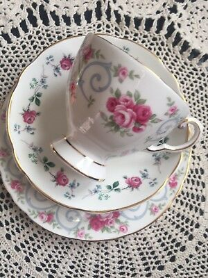 Mix Tuscan Pink Roses Trio Cup Saucer Plate