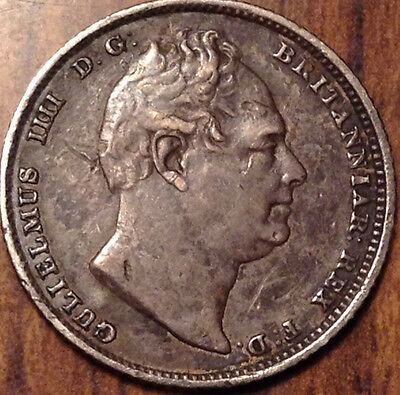 1831 Uk Gb Great Britain Silver Sixpence In Beautiful Condition !