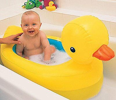 Inflatable Duck Baby Bath Tub by Munchkin. White Hot ideal Travel Bath