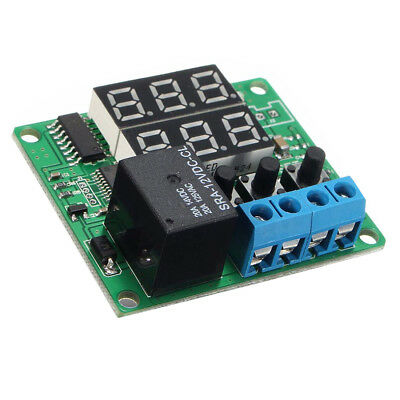 DC12V Dual LED Multifunction Cycle Timer Control Relay Module Delay Time Switch