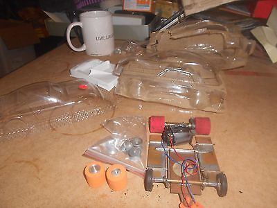 1/24Th Slot Car Chassis With Lexan Bodies